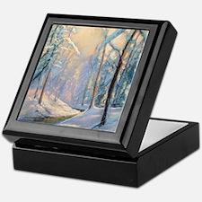 Winter brook pastel Keepsake Box