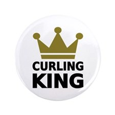 """Curling king 3.5"""" Button"""