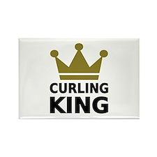 Curling king Rectangle Magnet