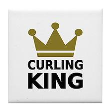 Curling king Tile Coaster