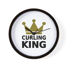 Curling king Wall Clock