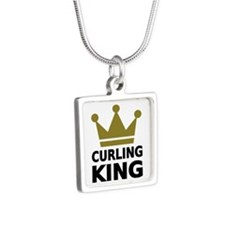 Curling king Silver Square Necklace