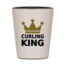Curling king Shot Glass