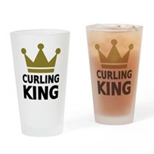 Curling king Drinking Glass