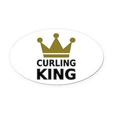Curling king Oval Car Magnet