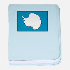 Flag of Antarctica baby blanket