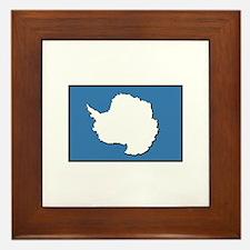 Flag of Antarctica Framed Tile