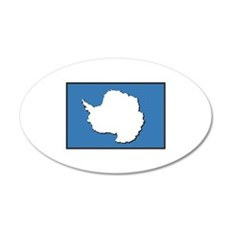 Flag of Antarctica 20x12 Oval Wall Decal