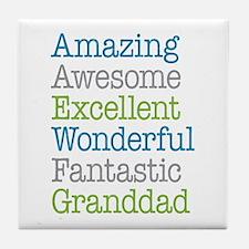 Granddad - Amazing Fantastic Tile Coaster