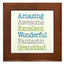 Granddad - Amazing Fantastic Framed Tile
