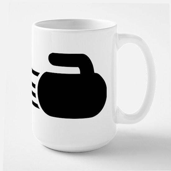 Curling stone Large Mug