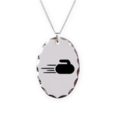 Curling stone Necklace