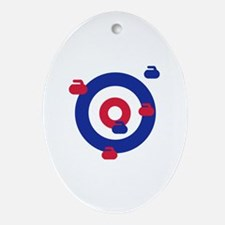 Curling field target Ornament (Oval)