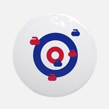 Curling field target Ornament (Round)