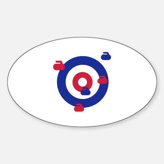 Curling field target Sticker (Oval)