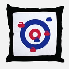 Curling field target Throw Pillow