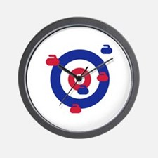 Curling field target Wall Clock