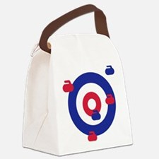 Curling field target Canvas Lunch Bag