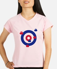 Curling field target Performance Dry T-Shirt