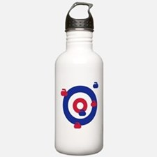 Curling field target Water Bottle