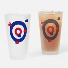 Curling field target Drinking Glass
