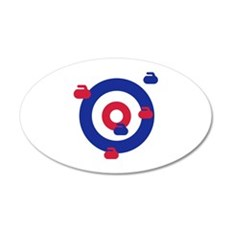 Curling field target Wall Decal