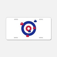 Curling field target Aluminum License Plate