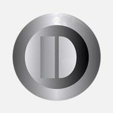 Polished Steel (D) Ornament (Round)