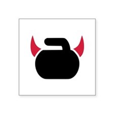 "Curling devil Square Sticker 3"" x 3"""