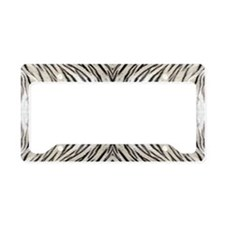 White Tiger License Plate Holder