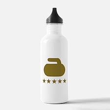 Curling stone five sta Water Bottle