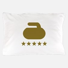 Curling stone five stars Pillow Case