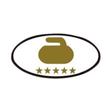 Curling stone five stars Patches