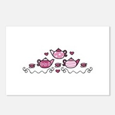 Tea Pots Postcards (Package of 8)