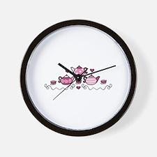Tea Pots Wall Clock
