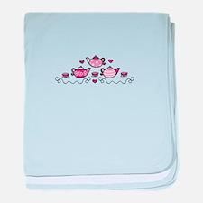Tea Pots baby blanket