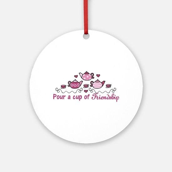Pour A Cup Ornament (Round)