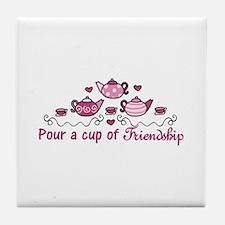 Pour A Cup Tile Coaster