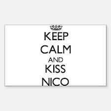 Keep Calm and Kiss Nico Decal