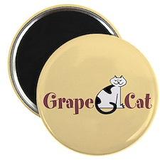 Grape Cat Magnet