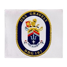 DDG 107 USS Gravely Throw Blanket