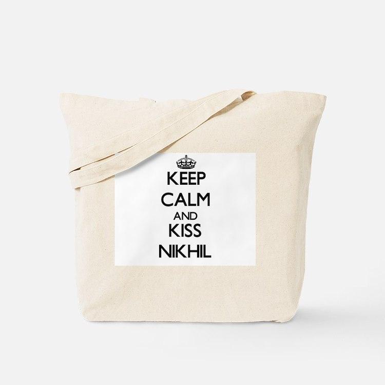 Keep Calm and Kiss Nikhil Tote Bag