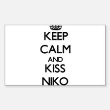 Keep Calm and Kiss Niko Decal