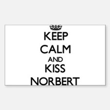 Keep Calm and Kiss Norbert Decal