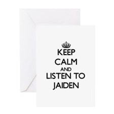 Keep Calm and Listen to Jaiden Greeting Cards