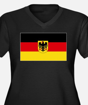 German COA f Women's Plus Size V-Neck Dark T-Shirt