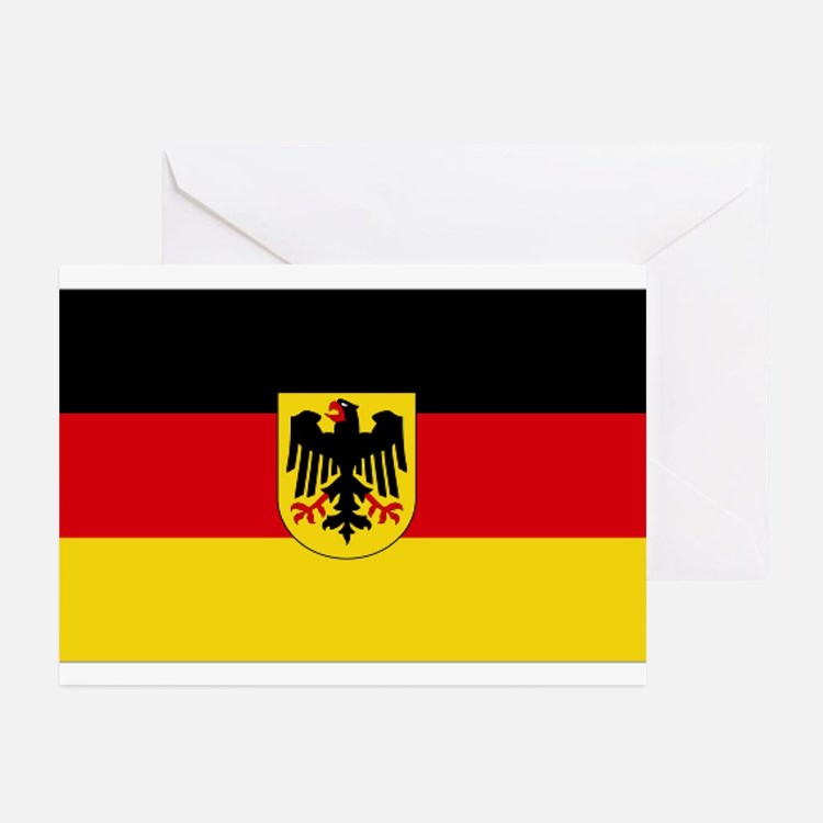 German COA flag Greeting Cards (Pk of 10)