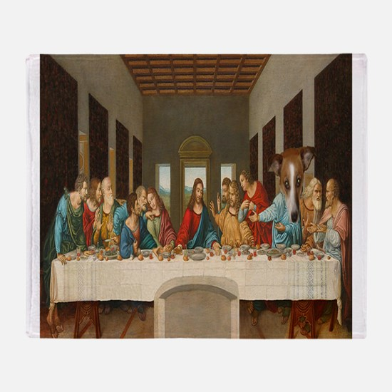 Disciple Dog Last Supper Throw Blanket