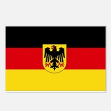 German COA flag Postcards (Package of 8)