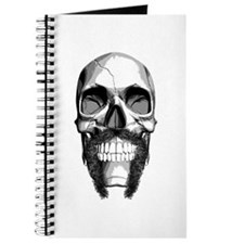 Skull Horseshoe Mustache Journal